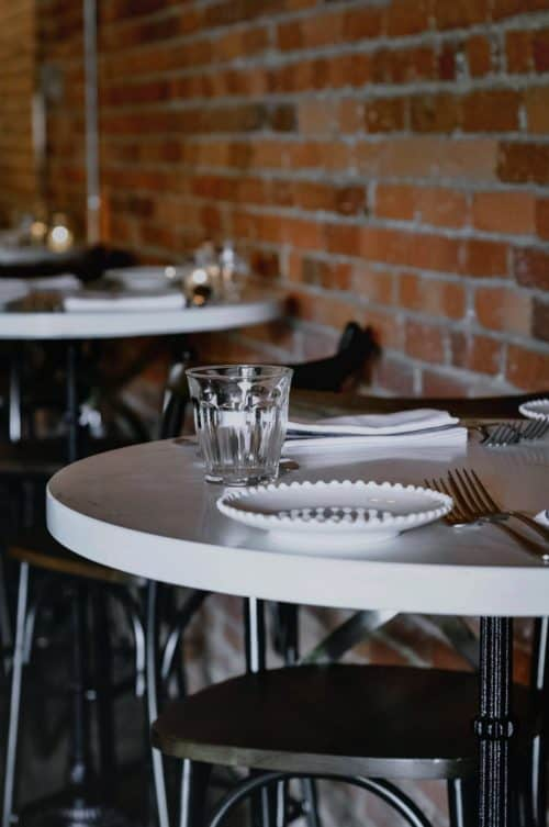 Cucciolo Osteria Round Marble Bar Tables