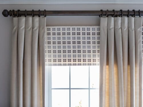 Flat valance drapery panels velvet layered