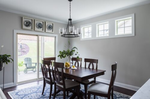 Dark Wood Dining Table Transitional Dining Room